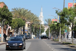 North view of famous Westwood Blvd.