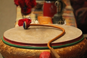 A drum used during Puja.